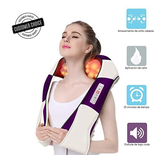 Nackenmassagegerät mit Wärme, Shiatsu-Nacken- und Rückenmassagegerät, Elektrisches Knetmassagegerät, Massagegerät für Nacken Schulter Rücken/Muskel Schmerzen/3D-Rotation Massage/Haus Büro Auto