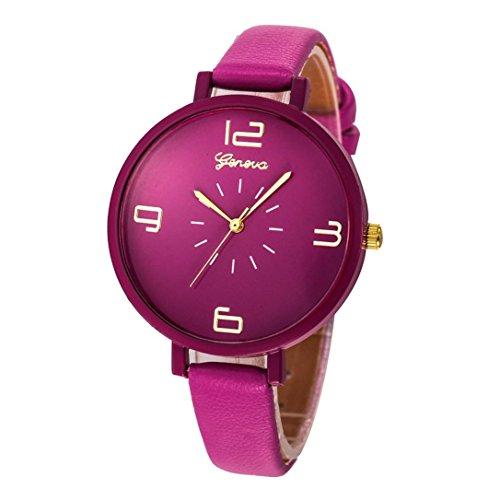 Armbanduhr Damen Uhr Xinnantime Klassische Eleganz Analoge Quarz Damenuhr Frauen 10 Farbe (Standard, Lila)