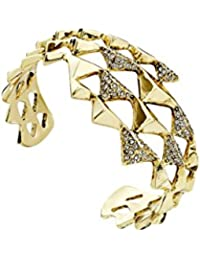 House of Harlow 1960 Pyramid Wrap Cuff Bracelet, 14-Carat Gold-Plated, Polished Diameter 60 mm