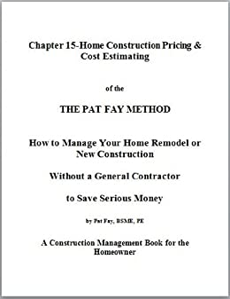 Chapter 15 home construction pricing cost estimating for Method homes cost