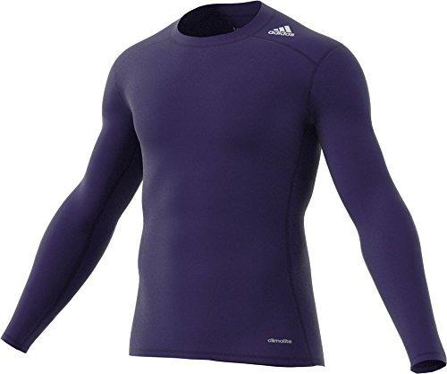 Da uomo Adidas Techfit base Layer a maniche lunghe Collegiate Purple