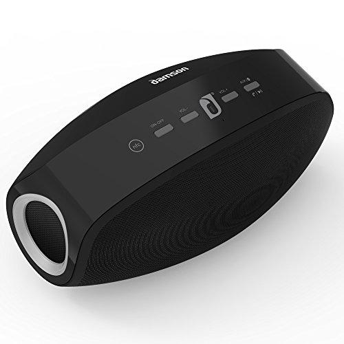 Damson Vulcan tragbarer kabelloser Bluetooth-Lautsprecher mit solidem Bass in schwarz - Blau Tragbarer Grill