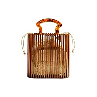 Handmade Bamboo Beach Bag Wooden Handmade Tote Womens Straw Tote Bag Womens Basket Bag Large Tote Bag Beach Bag for Women