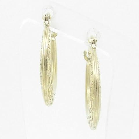 Silvergold Damen 10K gold und 925italienisches Sterling Silber Ohrringe Fancy Kugel Hoop Huggie Ohrstecker Fashion baumeln Swag HE30