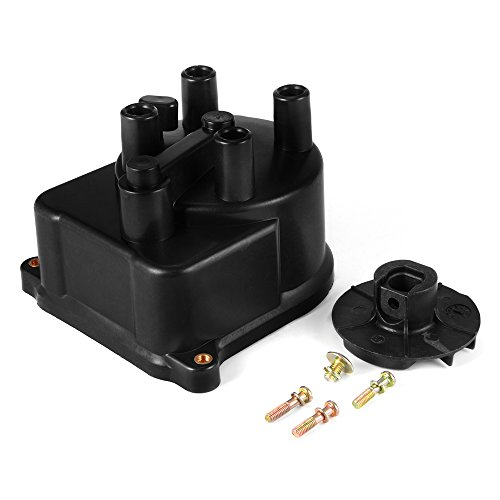 XCSOURCE Ignition Distributor Cap 30102P54006 + Rotor 30103P08003 Replacement Assembly Kit for Honda Civic 1992-1995, 1996-2000 MA971 Test