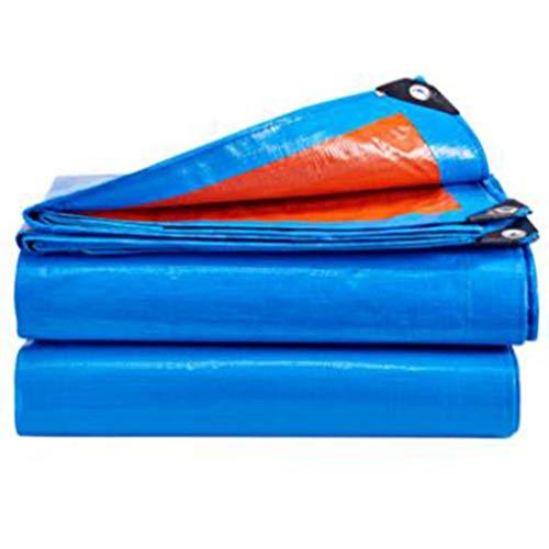 Preisvergleich Produktbild Plane Regenschutz Tuch Plane Schatten Tuch Isolierung Verdickung Baldachin Leinwand Plane (Farbe : Blue orange,  größe : 5 * 7m)