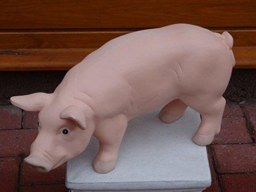 Mehrholz Steinfigur Schwein groß rosa ca. 10,5 kg