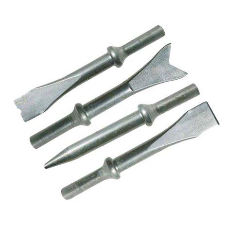 Silverline 598430 Druckluft-Meißelhammer-Satz 4 Meißel