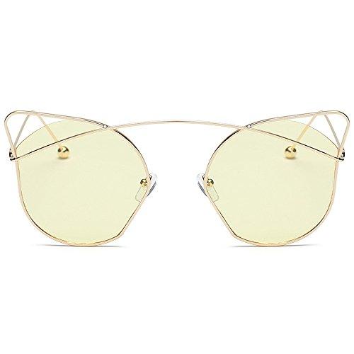 Damen Herren Mode Polarisiert UV Brillen Gläser Designer Sportbrille Cateye Acetat Rahmen Sonnenbrillen (D)