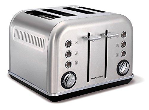 Morphy Richards 242026EE Accents Toaster 4 Schlitz gebürstet