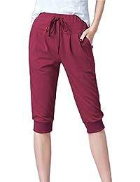 Pantalones Morado Mujer es Ropa Amazon Cortos Xxx Bq1RwZF