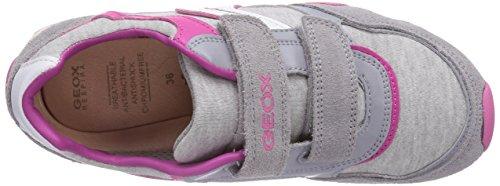 Geox - Jr New Jocker Girl A, Sneaker basse Bambina Grigio (Lt Grey C1010)