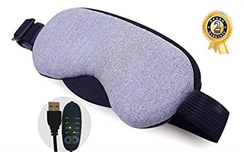 Baiyea Antifaz para dormir con Control de temperatura USB Vapor caliente/Enfriamiento Antifaz para dormir Tiempo Visera Dormir de noche Máscara de ojo del cubierta (Inodoro)