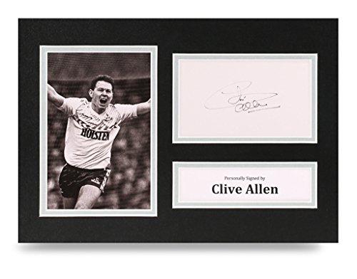 Clive-Allen-Signed-A4-Photo-Tottenham-Hotspur-Autograph-Display-Memorabilia-COA