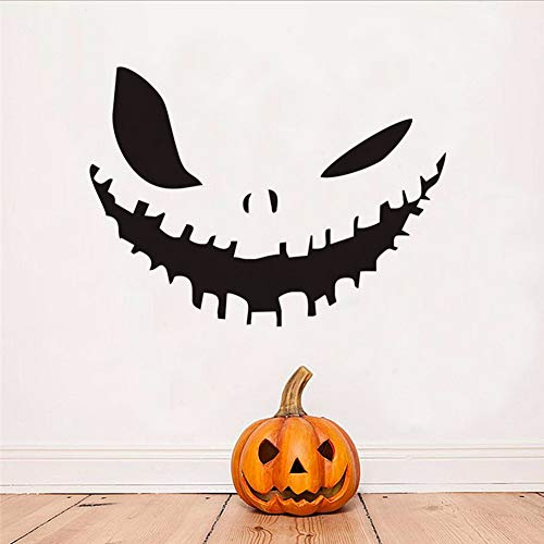 Kuletieas Kürbis Lächeln Abnehmbare Vinyl Wandtattoos Halloween Dekoration Wand Dekor Vinyl Wohnkultur Zubehör 79 * 58 Cm