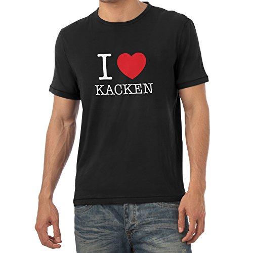 TEXLAB - I Love kacken - Herren T-Shirt Schwarz