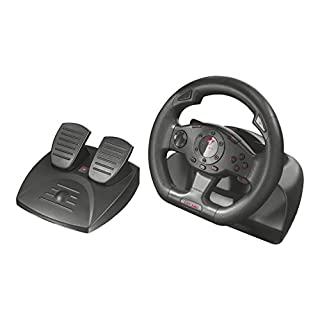 Trust Gaming 21414 GXT 580 Steering Wheel with Pedals and Vibration Feedback for PC and PS3