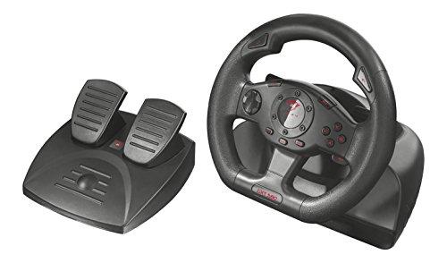 Trust GXT 580 Volante da Corsa con Feedback a Vibrazione per PC e PS3, Nero