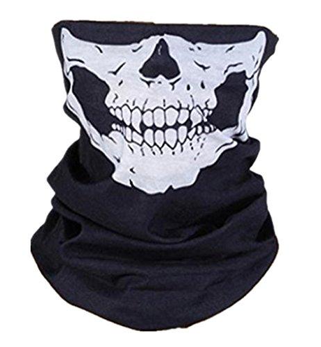 Sanlise 2014 NEU Sport Masken Skelett Gesichtsmaske Kopftuch Stirnband Fahrrad Motorrad Ski Kopfhaube Balaclava Schlitz schwarz Skull Totenkopf Maske Totenkopf Skull Face 2 (01)