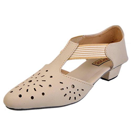 Jolly Jolla Women's Wogish Cream Synthetic Sandals -4 UK