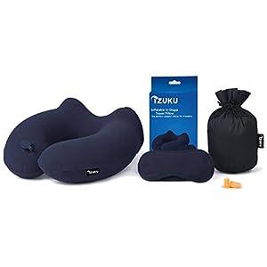 IZUKU Reisekissen Ideal für Reise Büro und Haus Nackenkissen mit stützenender Funktion Aufblasbares Nackenhörnchen mit…