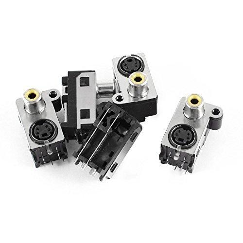 5 x S-Video DIN 4-pins aansluiting + RCA-aansluiting PCB mount Jack audio jack Rca-jack Pcb Mount