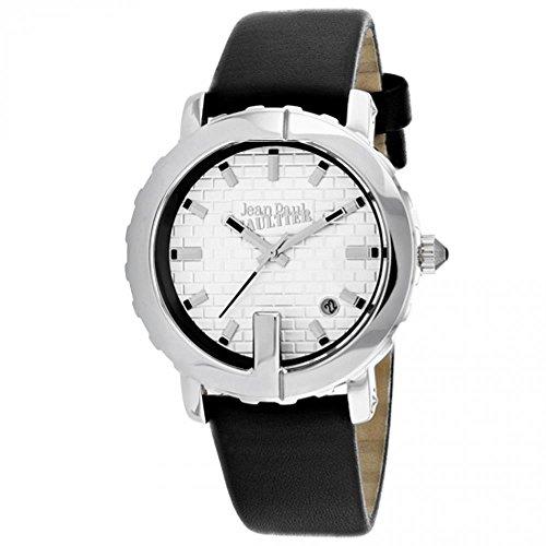 Jean Paul Gaultier Classic Femme 37mm Bracelet Cuir Noir Quartz Montre 8500515