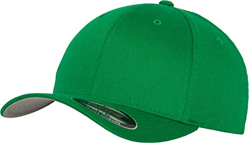 Flexfit 6277 Wooly Unisex Combed Cap, pepper green, S/M