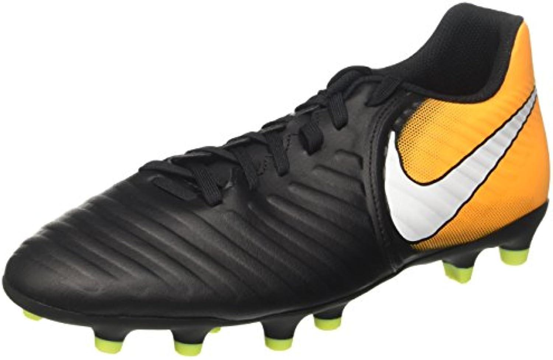 Nike Herren Tiempo Rio IV Fg Fußballschuhe  Black/White Laser Orange Volt