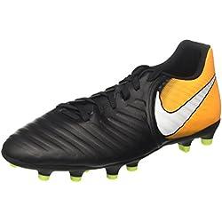 Nike Tiempo RIO IV FG - Scarpe per Calcio, Uomo, Nero (Black/White/Laser Orange/Volt), 42 EU