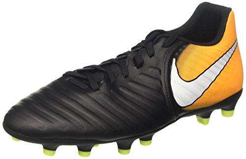 Nike Herren Tiempo Rio IV FG Fußballschuhe, Schwarz (Black/White/Laser Orange/Volt), 42.5 EU (Rio Schwarz Schuhe)
