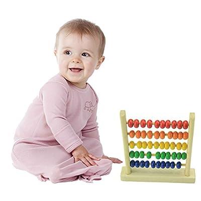 Domybest 1pcs Abaco Piccolo Colorato in Legno Giocattolo Educativo di Matematica Basica Gioco Matematica Bambini by Domybest