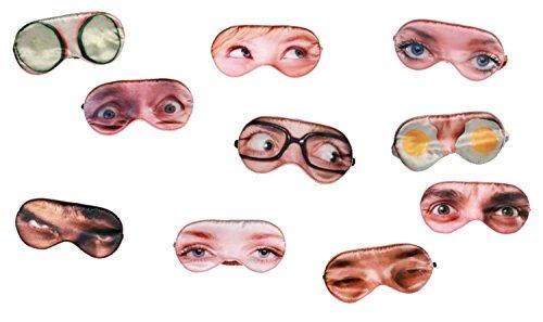 Augenmaske Schlafmaske Augen, Spiegelei, Hulk (Frauen Augen)