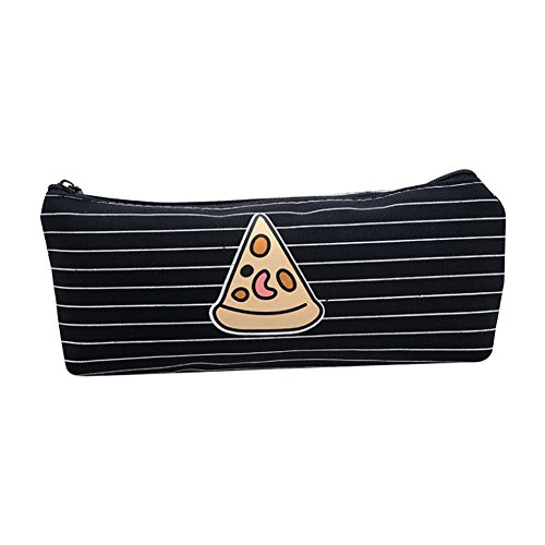 Mackur Fast Food Canvas Stationery Pencil Case Apply in School Office for Boys and Girls 1PCS (Pizza)