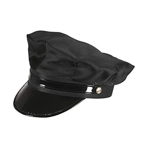 Chauffeur Kostüm Mütze - Widmann 03608 Chauffeur Hut für Erwachsene, schwarz