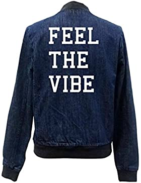 Feel The Vibe Bomber Chaqueta Girls Jeans Certified Freak
