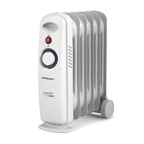 Orbegozo RO 710 C - Radiador de aceite mini, potencia de 700 W, construcción modular y diseño compacto en color blanco