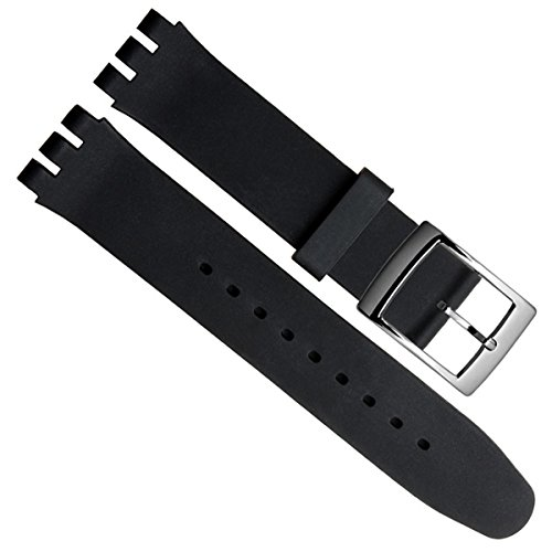 greenolive-19mm-replacement-waterproof-silicone-rubber-watch-strap-watch-band-black