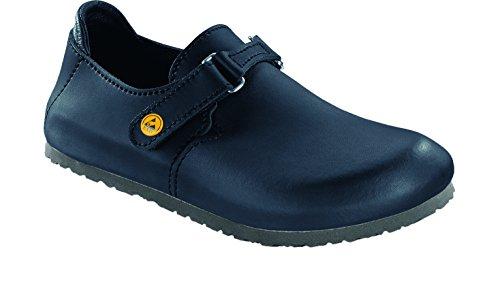 Birkenstock 583160-41-normales Schuh LINZ Antistatik/Naturleder normales Fußbett Schwarz Größe 41