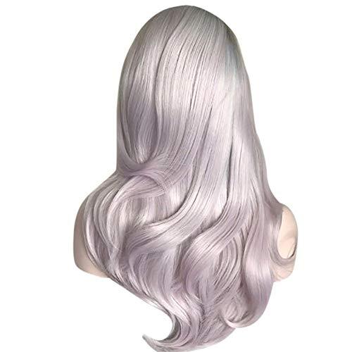Parrucca rosa naturale parrucca lungo capelli ricci alla moda ragazza parrucca sintetica parrucca