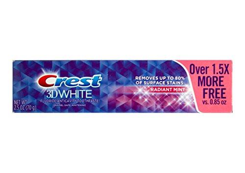 CREST 3D White Radiant Mint für strahlende Zähne Zahnpasta mit Fluoride 70g USA -