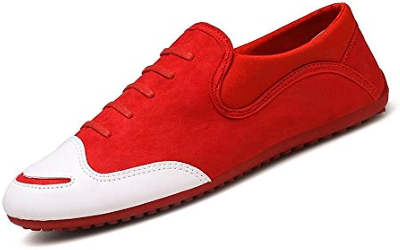 Tacón Plano de Punta Redonda de Color sólido para Hombre en los Zapatos