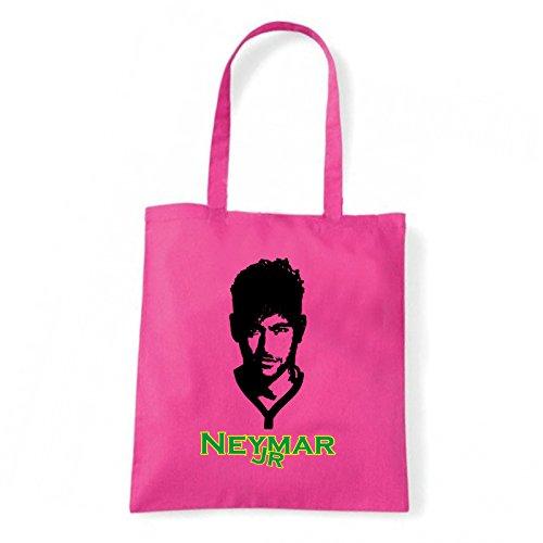 Art T-shirt, Borsa Shoulder Neymar Jr, Shopper, Mare Fucsia