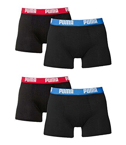 PUMA Herren Boxershorts Unterhosen 521015001 4er Pack Red / Blue