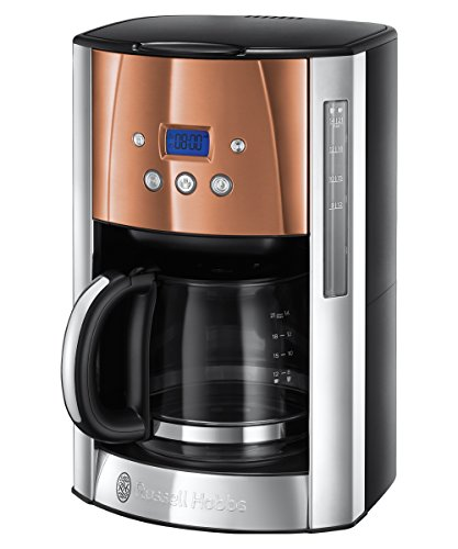 Russell Hobbs 24320-56 Digitale Glas-Kaffeemaschine Luna Copper Accents, 1.5l,...