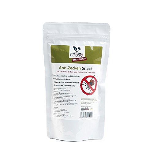 Dogs-Heart Anti-Zecken Snack (150g) für Hunde - Biologische Abwehr gegen Zecken, Flöhe und Milben - Auch für Welpen geeignet (Tinktur Spray)