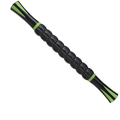 L.HPT Muskel-Rollen-Stick-18 Zoll Self Massage Tool, Rückenlinche-Kalbsmassagen für Athleten, Massagen-Werkzeug zur Verringerung der Muskelschmerzen, Lose von Dightness und beruhigende Krämpfe,Black