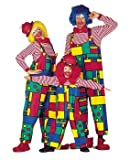 Herrenkostüm Latzhose Clown, Gr. 54