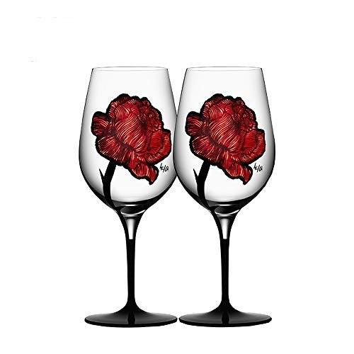 L-H-X Weinglas, handgefertigter Kristallglas-Rosewein zum Pokal, Geschenkset zum Valentinstag L++...