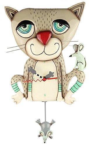 Mouser Cat Clock - Mäusejäger Uhr von Michelle Allen Designs